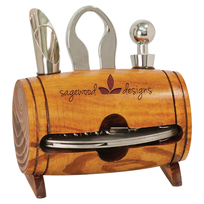 Barrel 4 Piece Wine Set